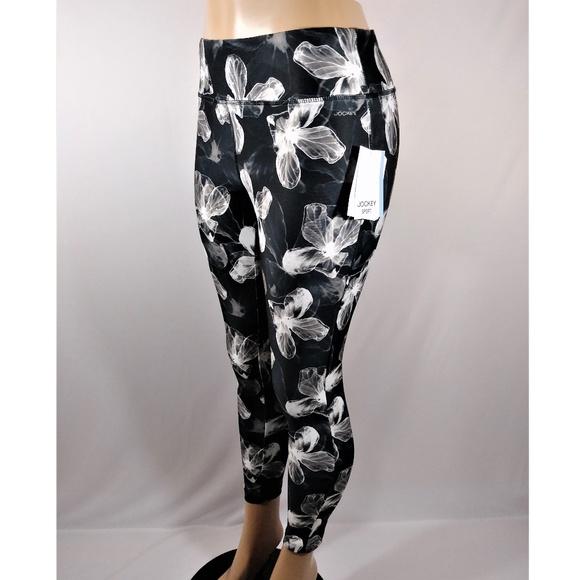 2d51e04d7a5a0 Jockey Pants | Flowered Black White Leggings | Poshmark
